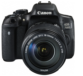 Canon EOS 750D + EF-S 18-135 mm f/3.5-5.6 IS STM - cashback 215 zł