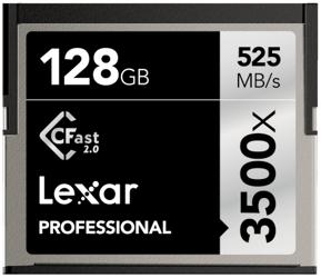 Lexar CFast 2.0 128GB x3500 Professional
