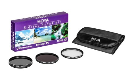Hoya zestaw UV HMC (C), PL-CIR ,NDX8 72 mm