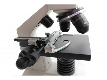 Sagittarius SCHOLAR 3, 40x-1280x, śruba mikro-makro, PC okular, stolik krzyżowy